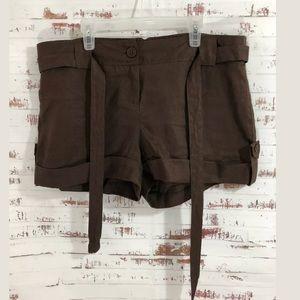 Venus Linen Shorts The Luna Fit Brown Tie Belt